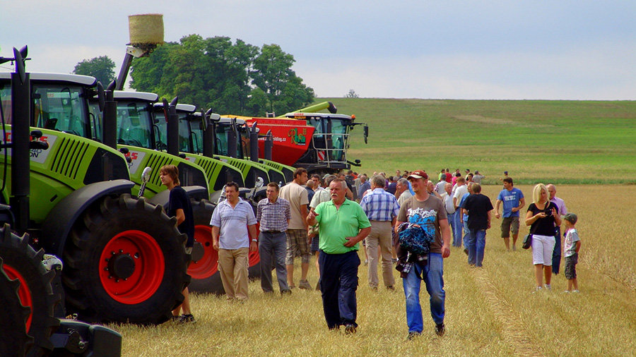 Claas demo in Czech Republic
