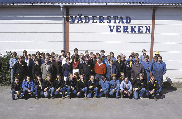 Väderstad staff in 1983
