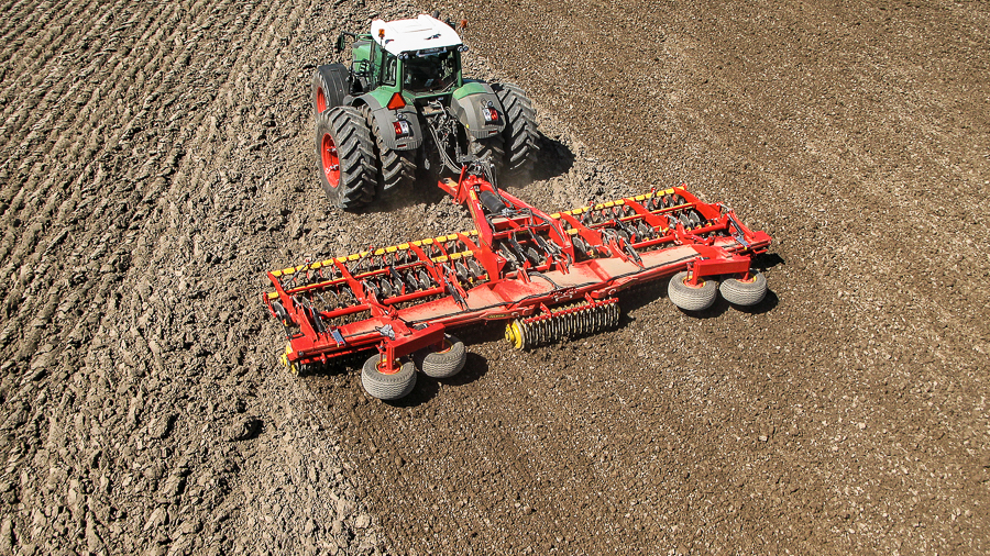 Väderstad Carrier offers great capacity on ploughed land