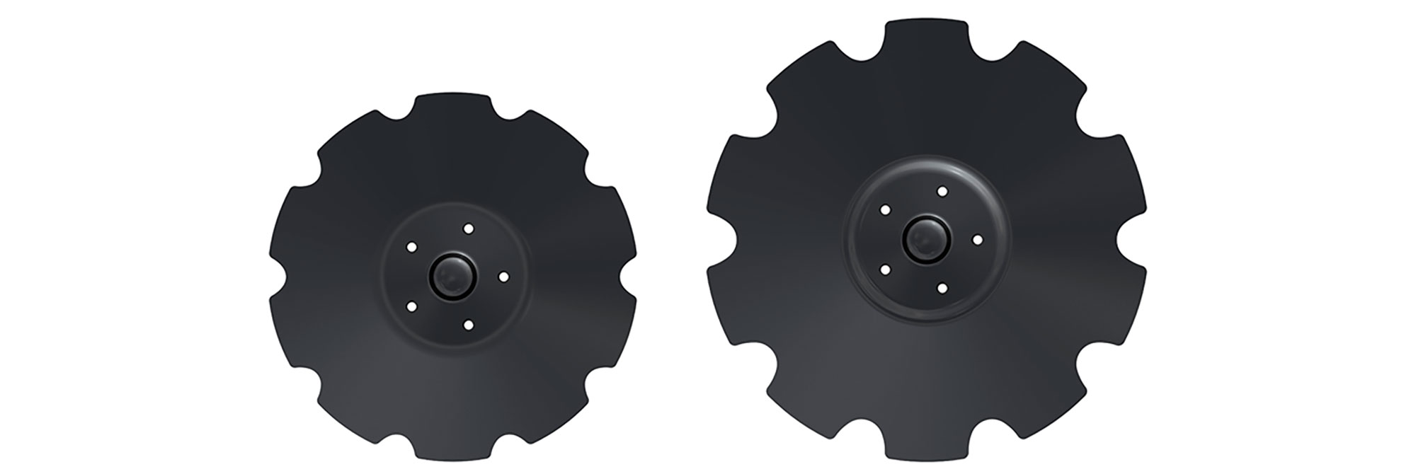 Väderstad Discs allowing for increased working depth