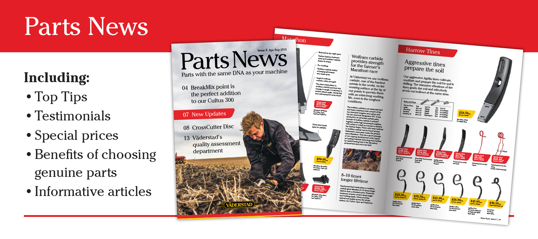 Click here to view the latest UK Parts News